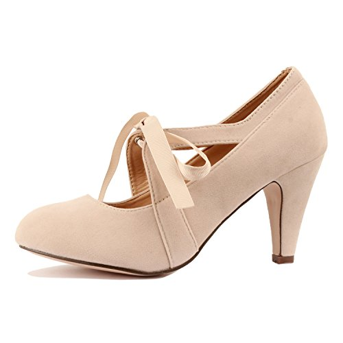 Guilty Heart - Kimmy-62 Nude Suede, 7 (Retro Nude)