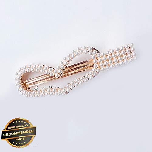 Pearl Geometrical Clasp - Gatton Premium New Women Heart Shape Pearl Hair Clip Pin Barrette Stick Hairpin Hair Accessories | Style HRCL-M182012232