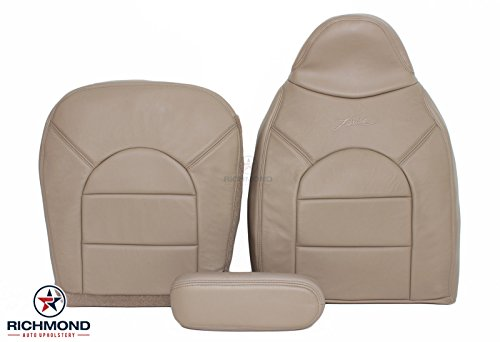 1999 Ford F-350 Lariat Complete Driver Side Replacement Leather Seat Cover, Tan