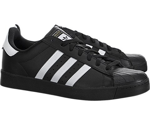 Adidas Mens Superstar Vulc Adv Black/ftwwht/black Skate Shoe 9.5 by adidas Originals