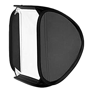 "Neewer 31x31""/80x80cm Foldable Off-Camera Flash, Portrait Soft Box with L-shaped Bracket&Flash Ring, Outer Diffuser and Carrying Case for Nikon Canon Sony Pentax, and Other Small Strobe Flashes"