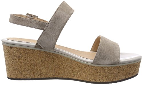 Tacco col 1 Brown Scarpe 075 Velour Taupe Stonefly Plateau Diva Beige con Donna x4Xqg46