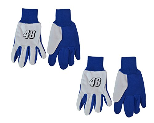 (Official NASCAR Fan Shop Authentic 2-Pack Utility Work Glove Set (Jimmie Johnson)