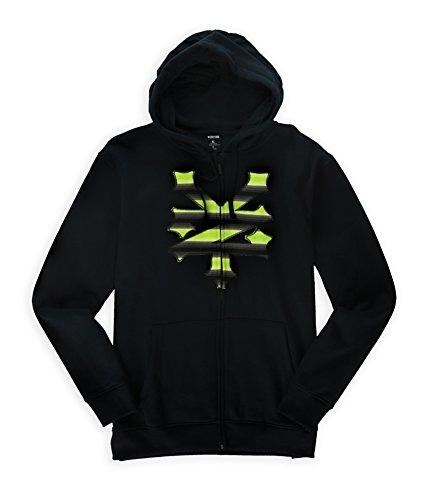 Zoo York Mens Striped Logo Hoodie Sweatshirt Black M