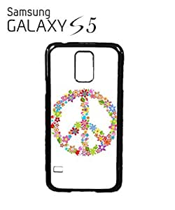 Peace Sign Flower Summer Mobile Cell Phone Case Samsung Galaxy S5 White