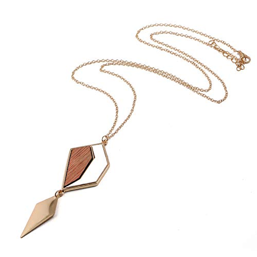 WUYANGYANG Long Necklace Accessories Simple Long Necklace European and American Geometric Ladies Necklace