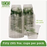 GreenStripe Renewable & Compostable Cold Cups Convenience Pack- 9oz., 50/PK, Sold as 2 Package