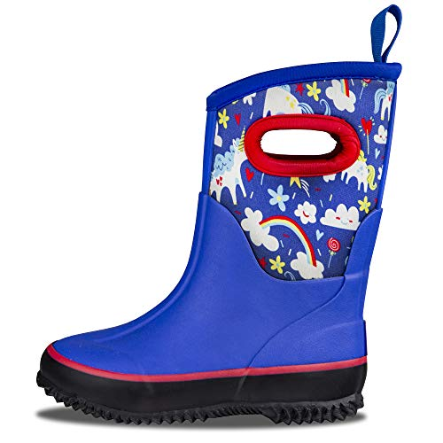 LONECONE Kids' All-Weather Neoprene MudBoots - Boots for Rain, Muck, Snow - Gary The Unicorn, Little Kid 12 -