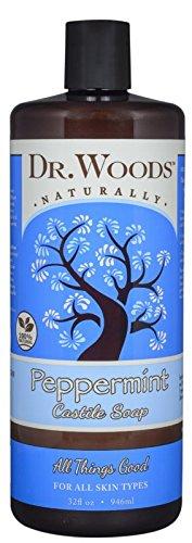 Dr. Woods Pure Peppermint Liquid Castile Soap, 32 Ounce