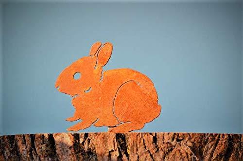 Elegant Garden Design Baby Bunny, Steel Silhouette with Rusty Patina]()