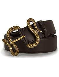 Designer Genuine Leather Bee Belt for Women, Fashion Canvas Bee Snake Designer Buckle Belt with Pearl