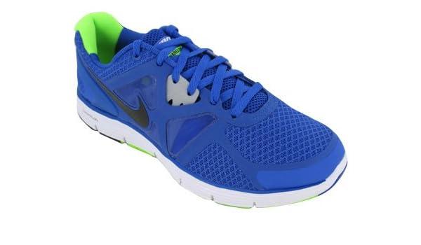 competitive price 2ec02 0ff88 Amazon.com   Nike Kid s Lunarglide 3 454568 401 Mega Blue Black White Grey  Sneakers (Kids 4.5, Mega Blue Black White Grey)   Running