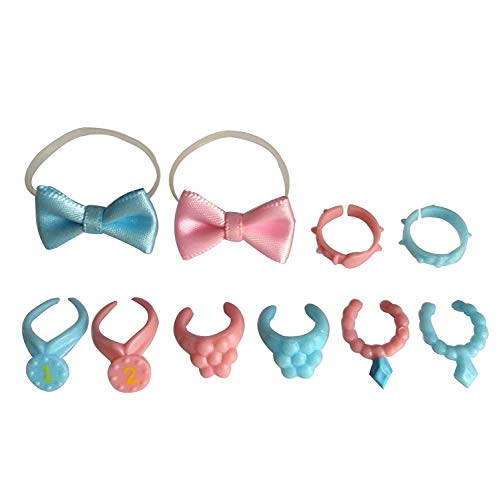 Tiny Pet Shop lps Pet Shop Accessories, lps Collar4pcs Random lps Bowknot and Collar Suit to lps Cat Great Dane Dog, Collie and Dachshund Best Gift for Your Lovely lps Figures(Cat Not Included)