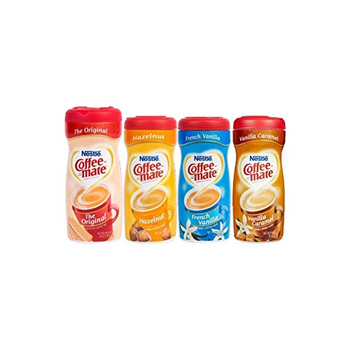 Coffee Mate Powdered Creamer - Variety 4 Pack (Best Powdered Coffee Creamer)
