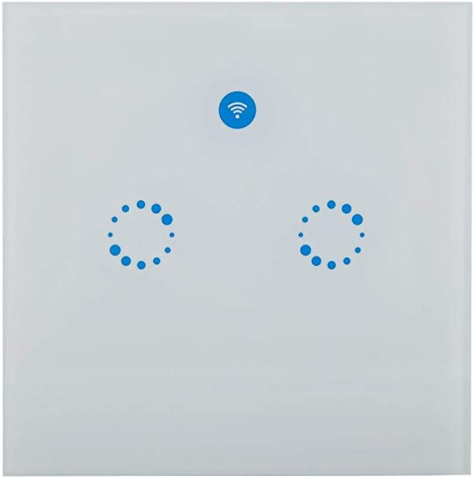 TOPINCN Interruptor Luz Inteligente WiFi 1//2//3 pandillas Interruptores Pared T/áctiles Inteligencia Controle Sus Accesorios Desde Cualquier Lugar #1