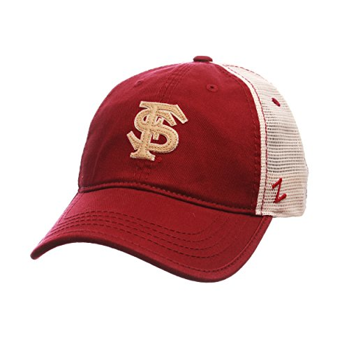 Ncaa Florida State Seminoles Mesh - ZHATS Florida State Seminoles Summertime Adjustable Snapback Cap - NCAA Trucker Mesh, One Size Baseball Hat