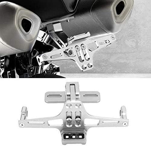 CUHAWUDBA Universal Aluminium Alloy Motorrad Einstellbare LED Kennzeichen Halter Motor Halterung Kennzeichen Halter