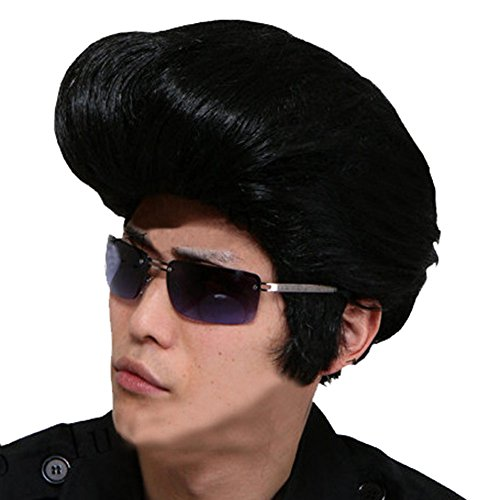 Rock N' Roll Elvis Presley Costume Wig The Plane Head Hairstyle Mens Cosplay (Planes Halloween Costumes)
