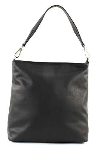 Bree 375820013 - Bolso de hombro de Piel Mujer 34x14x33 cm (B x H x T) Negro (Black)
