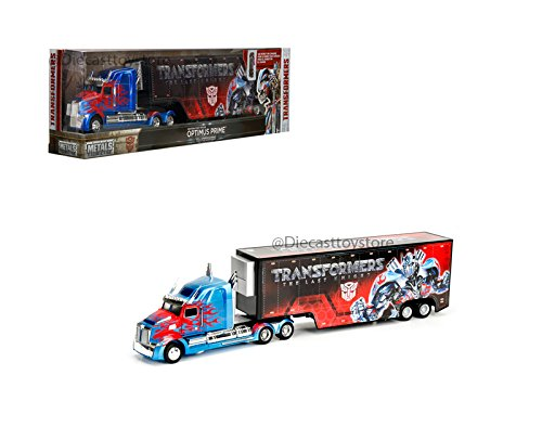 Jada Transformers Western Star 5700 XE Optimus Prime Hauler Diecast Model Tractor Truck and Trailer ()