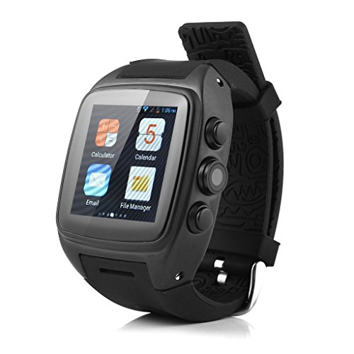 iMacwear SPARTA M7 Smart Watch Phone – IP67 Waterproof Rating, 1.54 Inch Touch Screen, Android 4.4 OS, Dual Core CPU, 3G