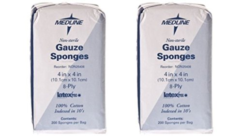 Medline Woven Gauze Sponges - Medline NON25408H Woven Non-Sterile Gauze Sponges, 4
