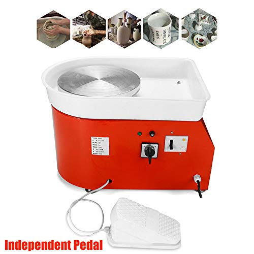 Barbella Pottery Wheel Pottery Forming Machine 250W Electric Pottery Wheel DIY Clay Tool with Tray for Ceramic Work Ceramics Clay (Orange) by Barbella (Image #6)