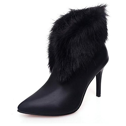 Shoes Booties Ankle Stiletto Spring Red Comfort PU Black Boots Fall ZHZNVX Women's Red Heel Casual Boots for Combat Boots HSXZ RqwExO7