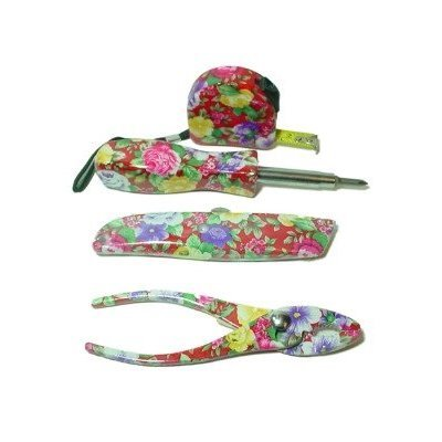 Pretty Womens Floral Tool Set
