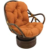 International Caravan 3310-TW-SP-IC Furniture Piece Swivel Rocker with Twill Cushion