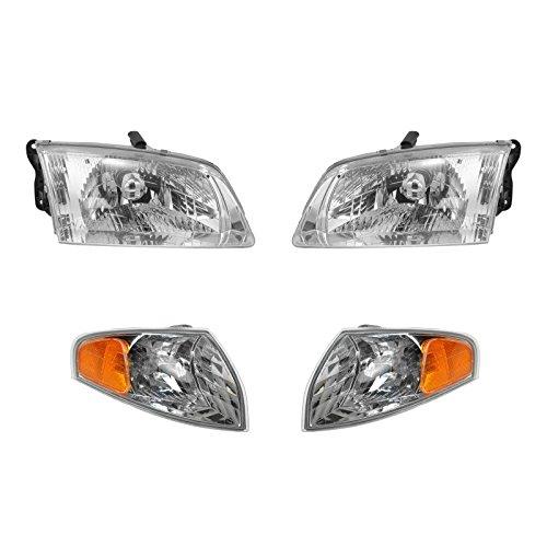 Headlight Corner Light Lamp LH RH Left Right Kit Set of 4 for 00-02 Mazda 626 ()
