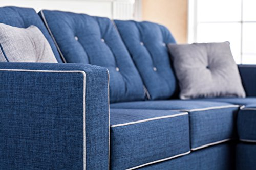Homes Inside Out Iohomes Tianna Modern Sectional Blue