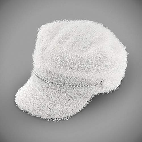 Furry Newsboy Biker Girls Party Costume Hat - -