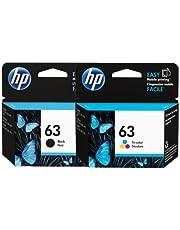 HP #63 DeskJet 2130 3630 Ink Cartridge Combo Pack (Genuine)