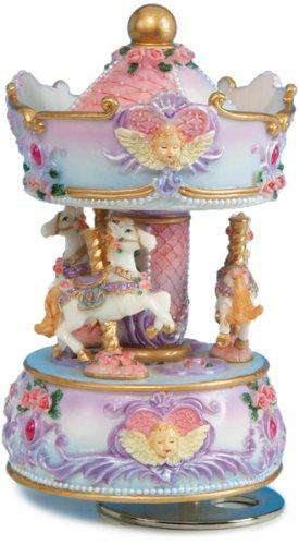 【即発送可能】 MusicBox Kingdom 14138 Carousel with Angel B002T3OGE2 Bust Music Kingdom Box with Playing