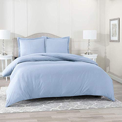 Wamsutta Daily Delight Linen 620-Thread-Count Solid Full/Queen 3 Piece Duvet Cover in Light Blue