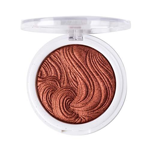 Jinjin Women Single Colors Contour Powder Highlighter, Repair Capacity Light High Cosmetic Makeup Brightening (E)