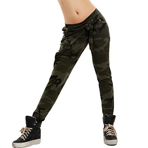Vert Sarouel Unique Militaire Pantalon Taille Femme Toocool Boue Marron T0pw5Sx