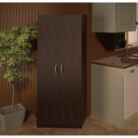 Double Door Storage Pantry Espresso by Generic