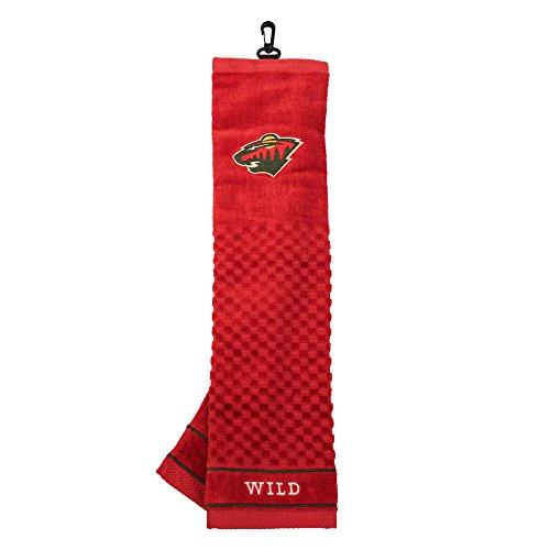Team Golf NHL Minnesota Wild Embroidered Golf Towel, Checkered Scrubber Design, Embroidered Logo