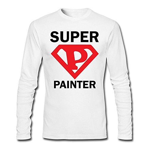 Men Super Painter Long Sleeve T-Shirt White