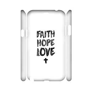 3D Doah Art Samsung Galaxy Note 2 Case Faith Hope Love for Teen Girls Protective, Samsung Galaxy Note2 Case Luxury, {White}