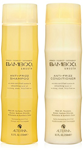 Bamboo Smooth Anti-Frizz Shampoo and Conditioner Set, 8.5-Ou