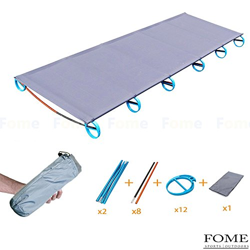IDEEP Camping Cot, Ultralight Camping Cot Comfortable Travel Cot Free Storage Bag Included Perfect for Base Camp and Hunting for Adults 73x23x4inch (Verpackung Camping Liste)