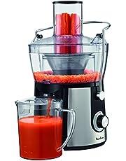 Moulinex Juice Express JU550D10 sapcentrifuge, 800 W, 1,4 l, 2 snelheden, zwart/zilver