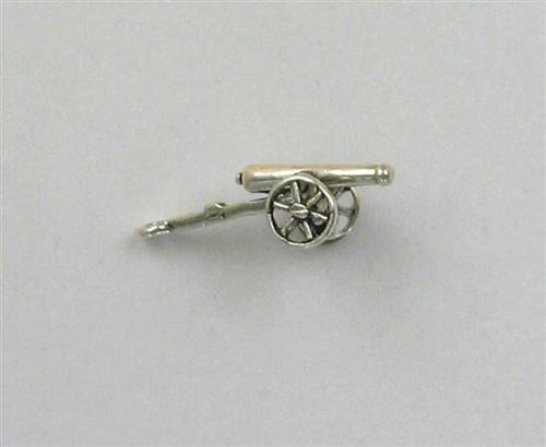 Sterling Silver 3-D Gettysburg Cannon Charm - Jewelry Accessories Key Chain Bracelet Necklace Pendants