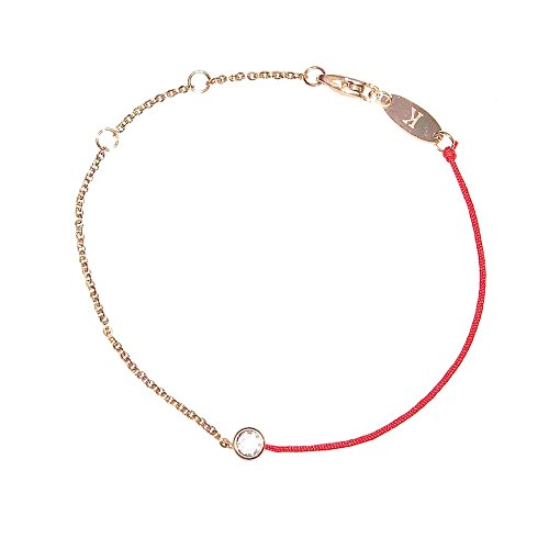Red String Rose Gold Plated Chain Bracelet ()