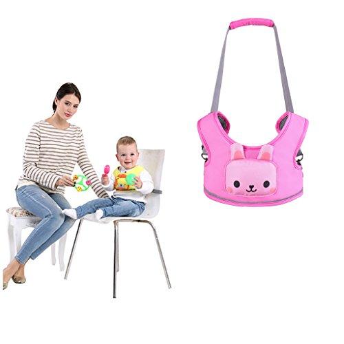 (WYT Toddler Safety Walking Reins Harness Belt Adjustable Strap Walk Assistant,Pink Rabbit )