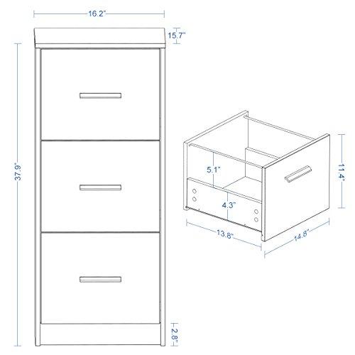 DEVAISE 3-Drawer Wood Filing Cabinet, Letter Size/A4, Dark Oak by DEVAISE (Image #1)