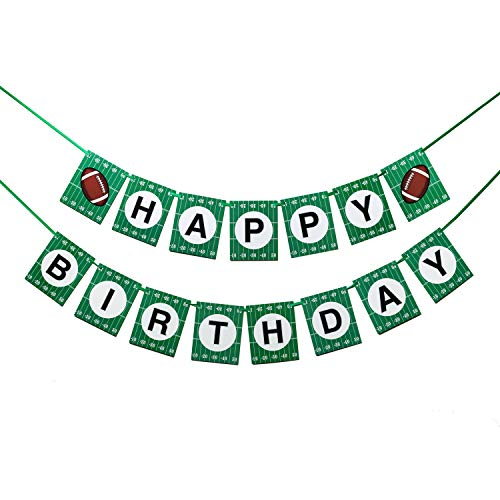 Football Themed Birthday Party Banner, Sports First Birthday Party and Baby Shower Party Decoration Super Bowl Sunday or NFL Party Supplies